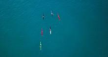 Aerial Image Of Kayakers Paddl...