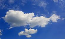 Summer Clouds In Blue Sky