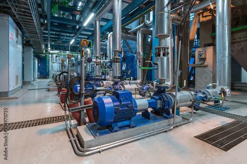 Fotografía Pumps in a cogeneration station