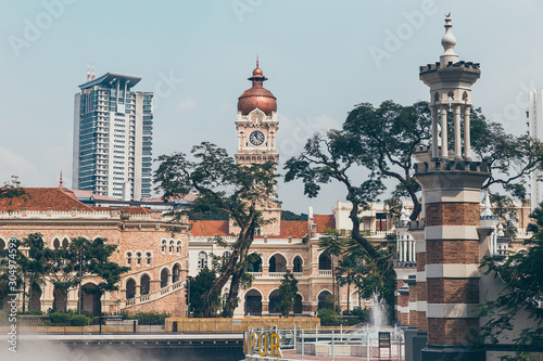 Sultan Abdul Samad Building in historical center of Kuala Lumpur Wallpaper Mural