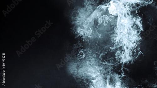 抽象的な煙 Fotobehang