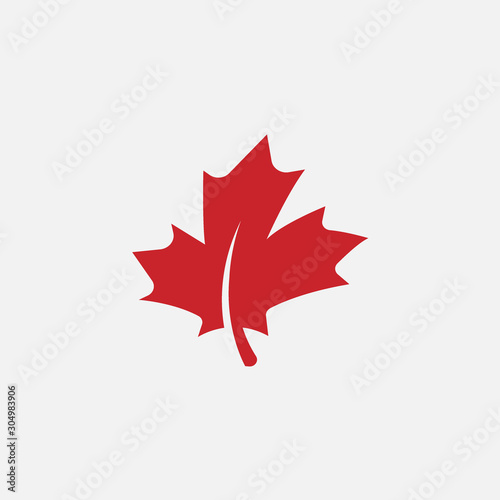 Foto Maple leaf logo template vector icon illustration, Maple leaf vector illustratio