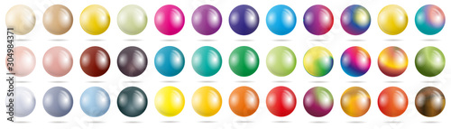 Fotomural set colored spheres