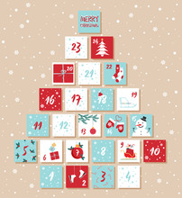 Vector Christmas Advent Calend...