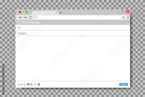 Obraz na plátně  Email message template