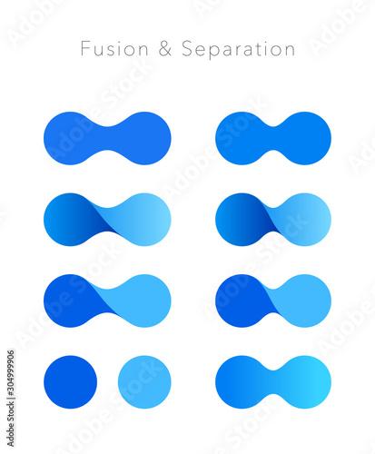 Vászonkép 融合イメージ ロゴマークセット
