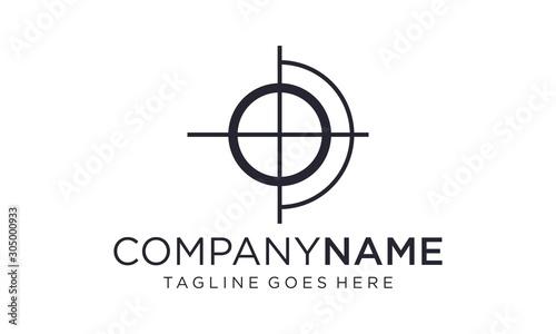 Fotografía Shooting target for the logo design concept