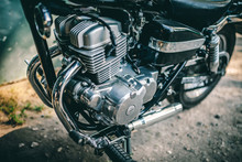 Motorcycle Engine In Close Up ...