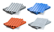 Set Of Different Types Of Roof...