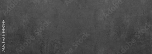 Obraz black grey anthracite stone concrete texture background panorama banner long - fototapety do salonu
