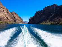 Bow Waves From A Motorboat, Co...