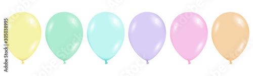 Photo  Bunte Ballons pastel isoliert