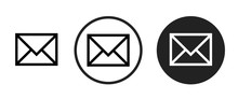 Email Icon . Web Icon Set .vec...