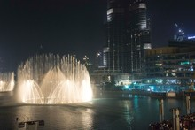 Dubai Dancing Fountain At Night