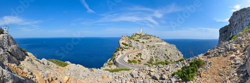 Obraz Panorama Leuchtturm am Cap de Formentor / Mallorca - fototapety do salonu