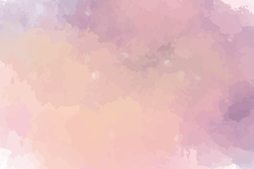Watercolor illustration with warm purple colors. Textured background for your graphics. Subtle and delicate. Paint splash.