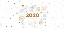 2020 - Happy New Year With Geometric Elements
