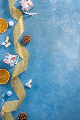 Photo Christmas composition