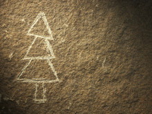Rock Painting Of Christmas Tree