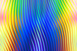 canvas print picture - curvy gradient rainbow colors behind glass