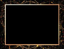 Gold Frame On A Black Backgrou...