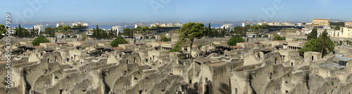Photo  Panoramic view of Herculaneum ancient roman ruins.