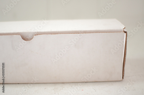 One image of white oblong box with white background Wallpaper Mural