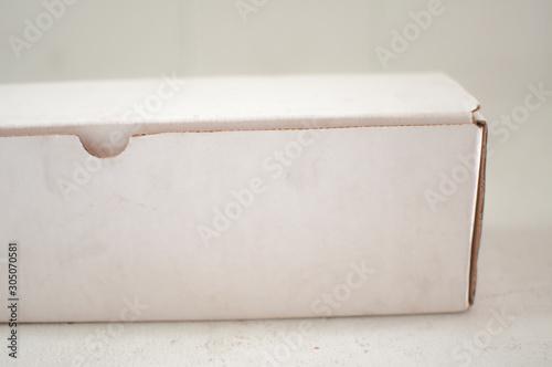 Photo  One image of white oblong box with white background