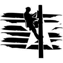 Power Lineman Flag, American Flag, Fourth Of July, 4th Of July, Patriotic, Cricut Silhouette Cut File, Cutting File