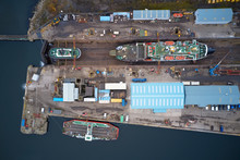 Dry Dock And Ship With Shipbui...
