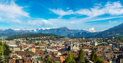 Photo Panoramic view of Lucerne