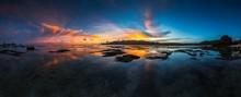 Panoramic Shot Of The Reflecti...