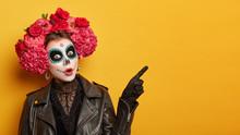 Shocked Female Wears Creative ...