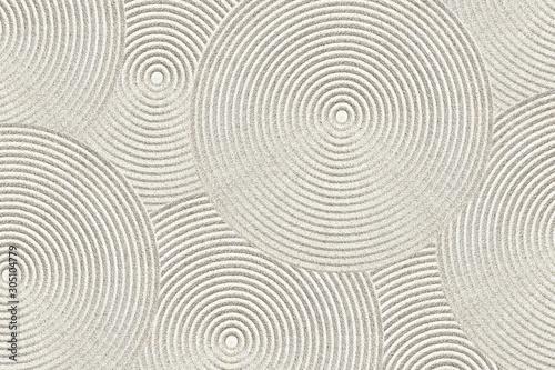 Foto auf AluDibond Zen-Steine in den Sand Zen pattern