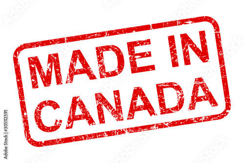 Cuadros en Lienzo Made in Canada stamp icon sign – stock vector
