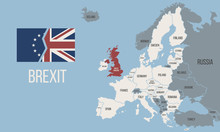 Brexit Map. Map Of The Europe ...