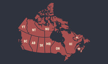 Canada Poster Map With Short P...