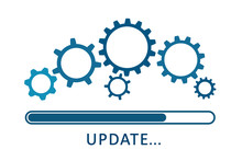 Update Icon With Gears. Loadin...