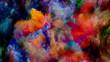 canvas print picture - Conceptual Virtual Color