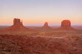 Monument Valley, Utah/united states of america-october 7th 2019, West Mitten Butte, East Mitten Butte and Merrick Butte