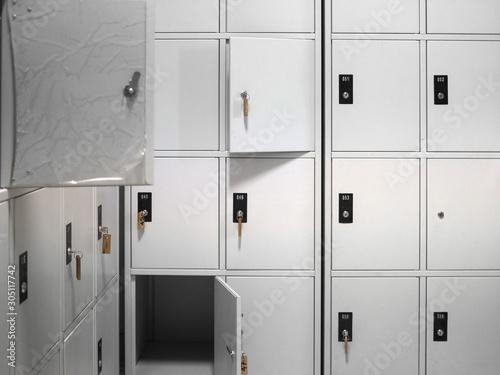 Fotografia, Obraz white locker cabinet