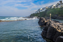 Pristine And Natural Salt Rock Tidal Pool In Dolphin Coast Ballito Kwazulu Natal South Africa