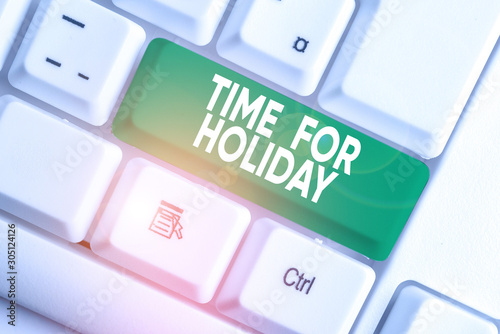 Fotografie, Obraz  Writing note showing Time For Holiday