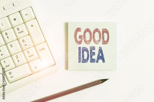 Valokuva Handwriting text Good Idea