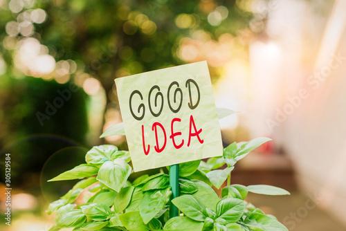 Valokuva Text sign showing Good Idea
