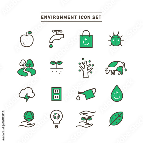 Fotografía ENVIRONMENT ICON SET