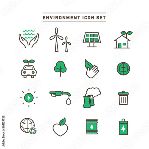 ENVIRONMENT ICON SET Wallpaper Mural
