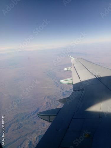 Photo vista a las nubes desde un avión