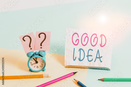Valokuvatapetti Writing note showing Good Idea