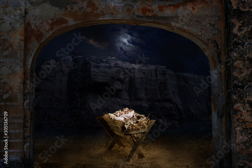 Fototapeta Jesus Laying on the Manger